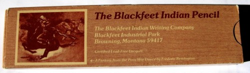 The Blackfeet Indian Pencil
