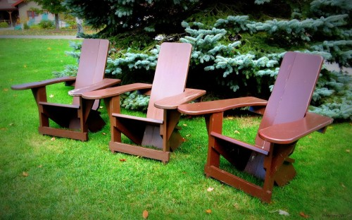 Adirondack Chairs - Blue Mt Lake