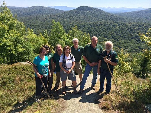 Commissioner Martens and others on Goodman Mountain
