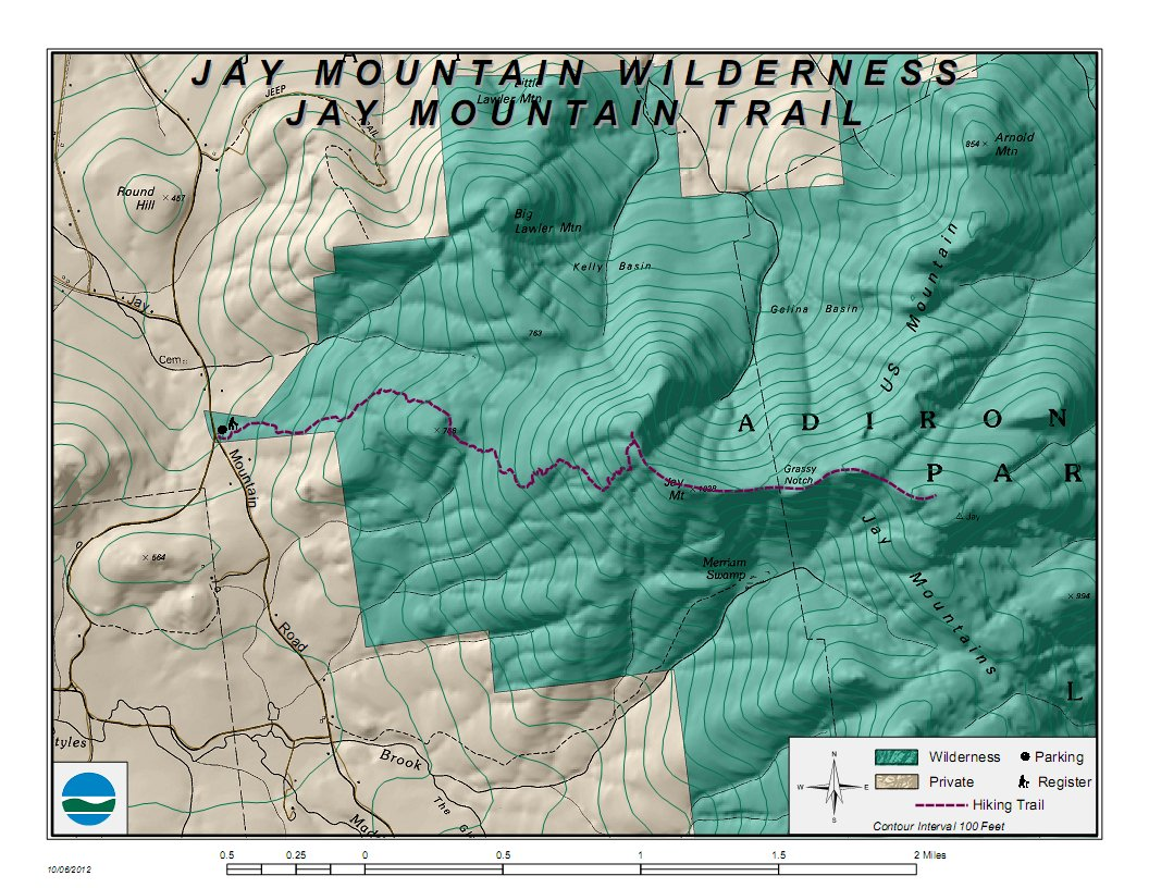 Dec completes trail to ridge of jay mountain jay mt trail map publicscrutiny Images