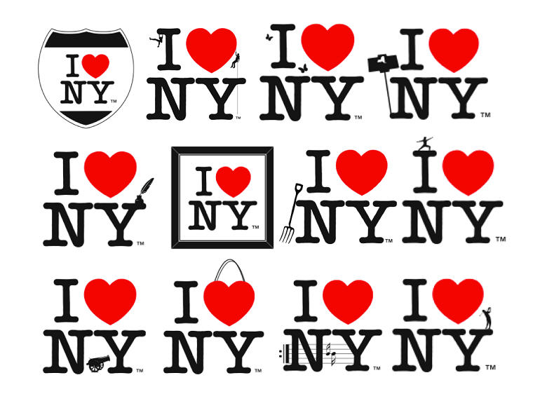 I Love NY logos
