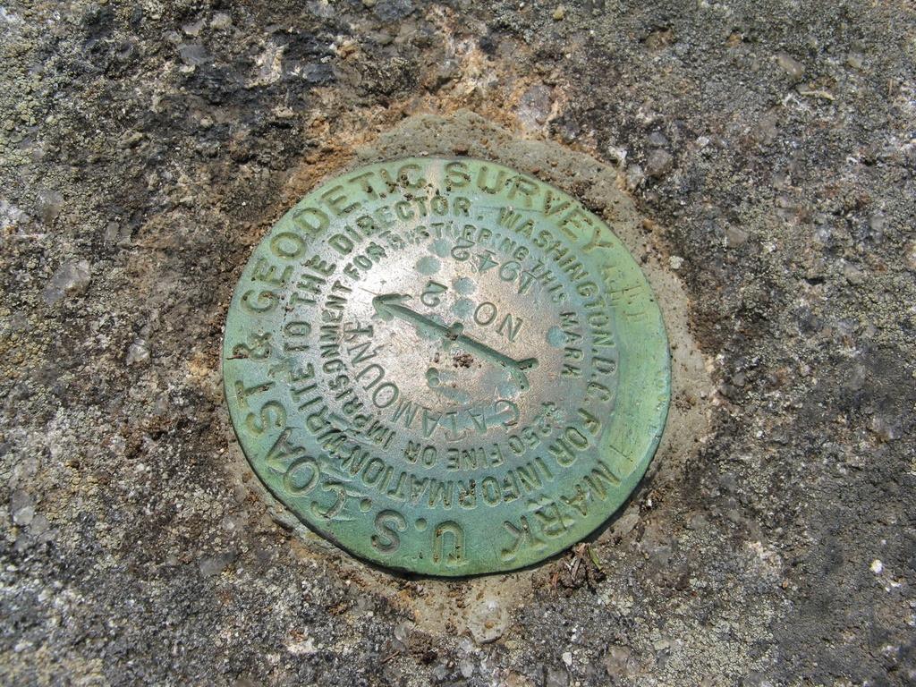 Catamount Mt - USGS Marker