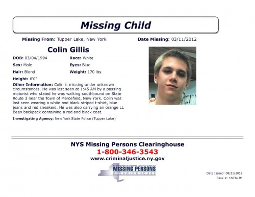 Missing Child - Colin Gillis