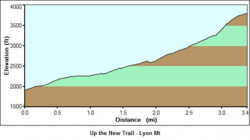 Lyon Mt - New Trail Profile