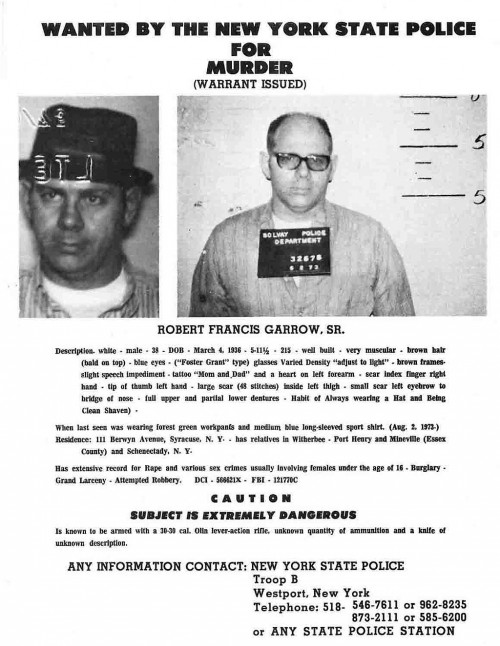 Robert Garrow - Wanted Poster