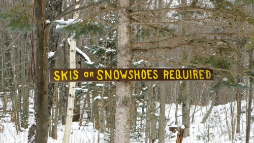 Skis or Snowshoes Required