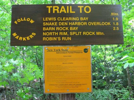 Split Rock Mountain Wild Forest Trailhead Sign