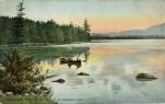 Sunset on Utowana Lake, Adirondack Mts.