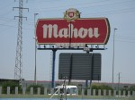 Gas-stop across from the Mahou Cervecería