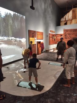 Visitors at the Adirondack Experience in Blue Mountain Lake