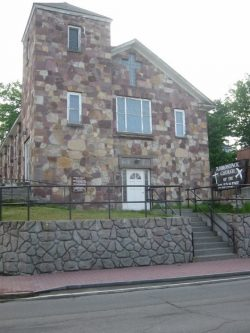 The Church of the Nazarene formerly occupied the Adirondack Experience's property in Lake Placid