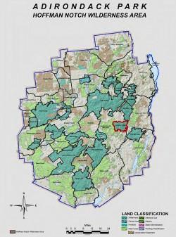 Hoffman Notch Wilderness Area - Location