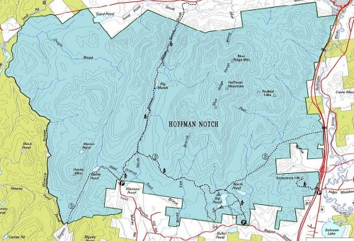 Hoffman Notch Wilderness Area Map