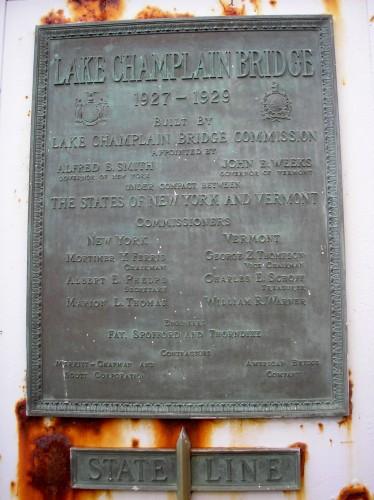 Lake Champlain Bridge - Plaque
