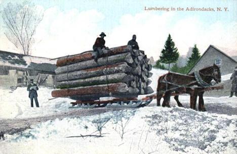 Lumbering in the Adirondacks