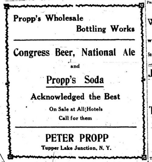 Propp's Wholesale Bottling Works advertisement, 1912