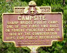 Sharp Bridge Campground - Historic Marker