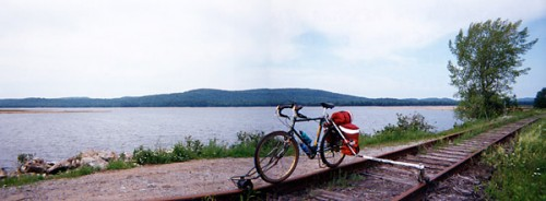 Rail-bike at Stillwater Reservoir