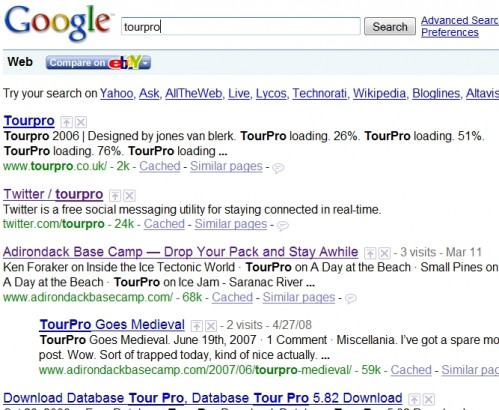 tourpro-google search