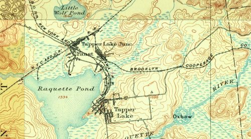 Tupper Lake Junction, NY - 1905 Map