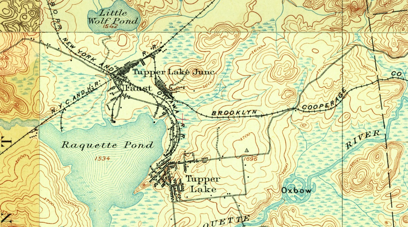 Tupper Lake Junction, NY - 1905 Map