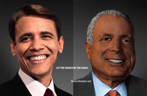 White Obama - Black McCain