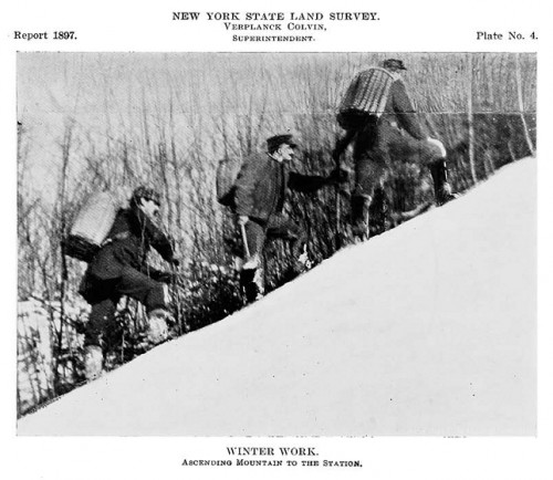 Winter Work - Ascending Mountain to the Station